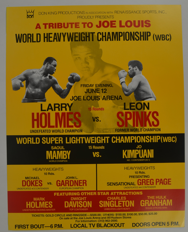 holmes vs holmes 9th of june, 1978caesars palace, las vegas, nevada, united states wbc heavyweight world championship.