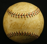 New York Yankees 1926 Team Signed Baseball w/Babe Ruth & Lou Gehrig