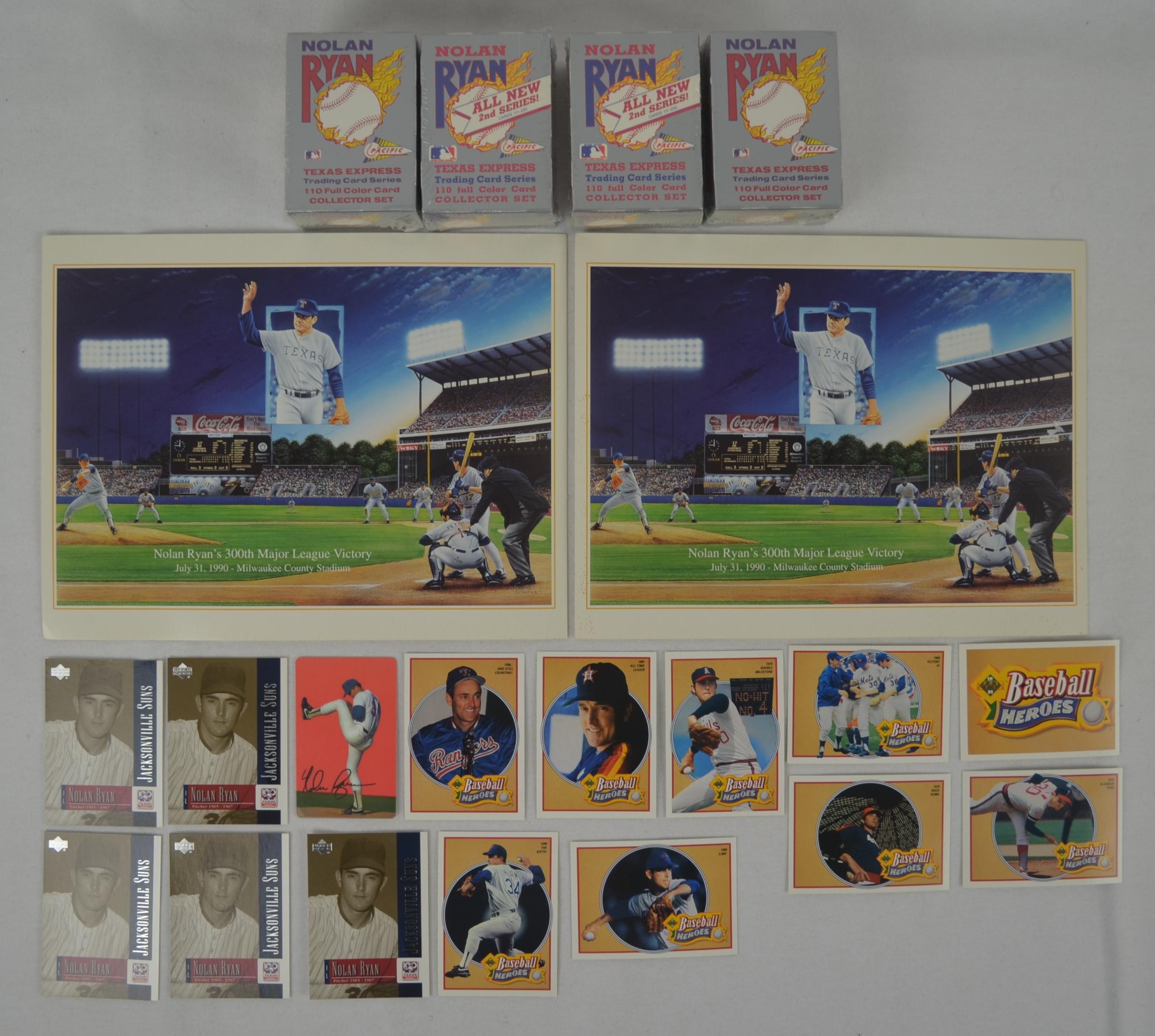 Lot Detail Nolan Ryan Collection W4 Card Sets