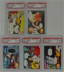 1993 Upper Deck Adventures in Toon World Collection of 5 PSA Graded Cards