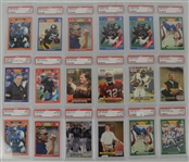 1989 1991 & 1992 Pro Set Football Collection of 18 PSA Graded Cards