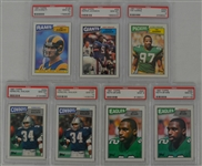 1987 Topps Football Collection of 7 PSA Graded Cards
