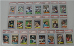 1983 Topps Football Collection of 22 PSA Graded Cards