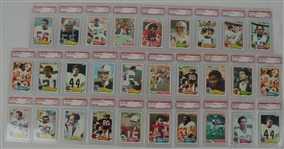1982 Topps Football Collection of 29 PSA Graded Cards