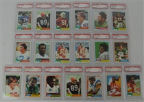 1981 Topps Football Collection of 19 PSA Graded Cards
