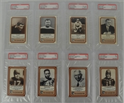1974-1975 Fleer Football Collection of 8 PSA Graded Cards