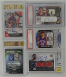 NBA Lot of 5 Autographed PSA & BGS Graded Rookie Cards
