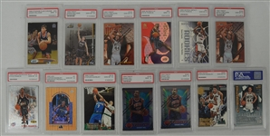 NBA Collection of 13 PSA Graded Cards