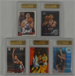 Yao Ming Lot of 5 Rookie Cards Graded BGS 9.5 Gem Mint
