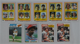 Collection of 9 Baseball & Football Cards