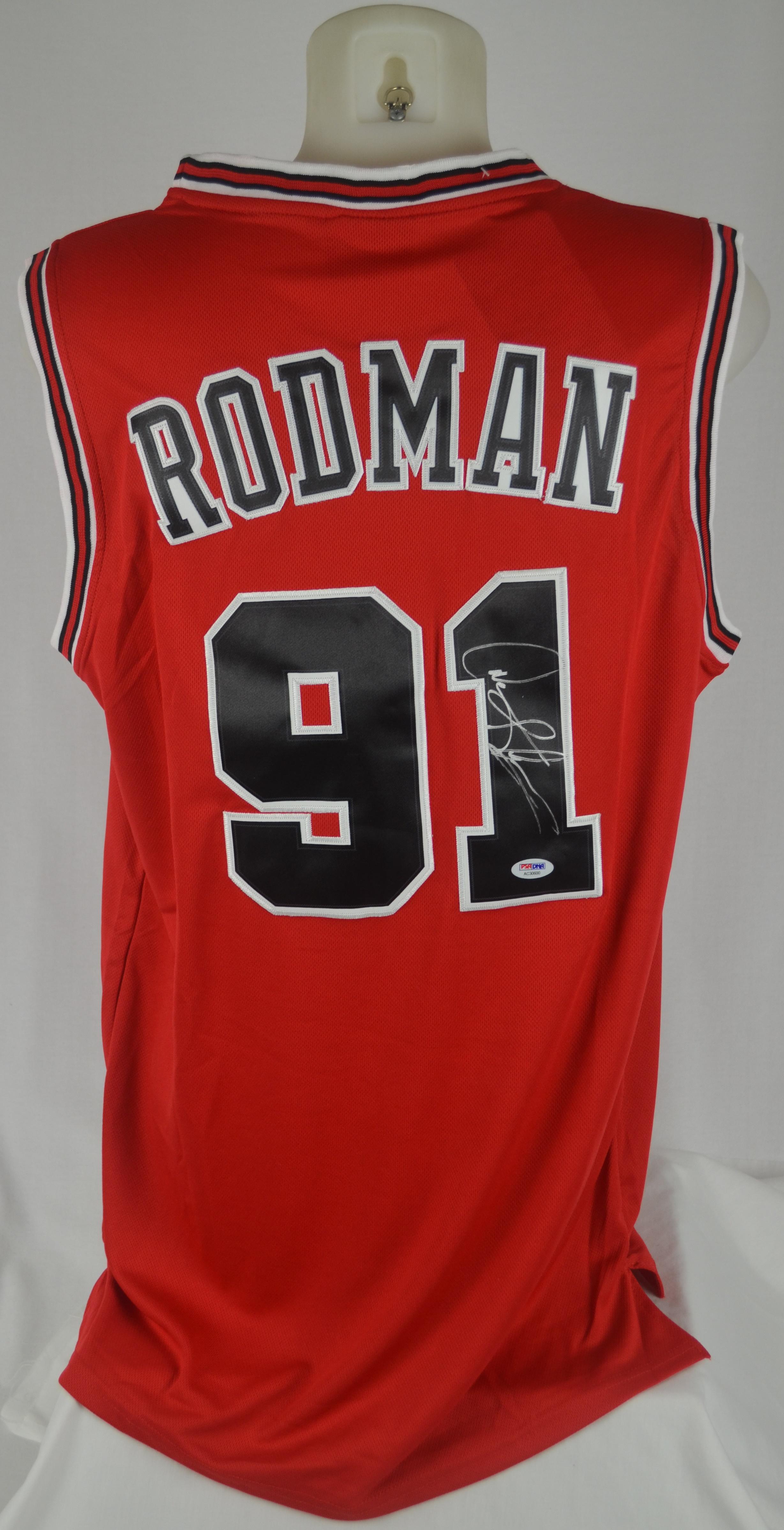 designer fashion 4d8d9 2ce76 Lot Detail - Dennis Rodman Chicago Bulls Autographed Jersey