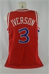 Allen Iverson 1996-97 Philadelphia 76ers Professional Model Rookie Jersey w/Medium Use