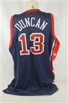 Tim Duncan 2003 Team USA Professional Model Jersey w/Light Use