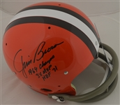 Jim Brown Autographed & Inscribed Cleveland Browns Helmet