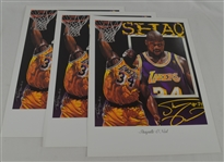 Shaquille ONeal Lot of 3 Tim Cortes Fine Art Lithographs