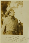 "Lou Gehrig Rare c. 1938 Autographed ""Rawhide"" Photo"