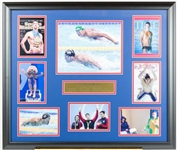 Michael Phelps Olympic Photo Collage display