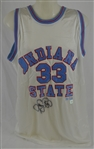 Larry Bird Autographed Indiana State Jersey