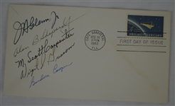 Mercury Seven First Day Cover Signed by 5 Astronauts w/John Glenn