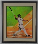 David Ortiz Original James Fiorentino Painting Signed by Both w/LOA From Artist