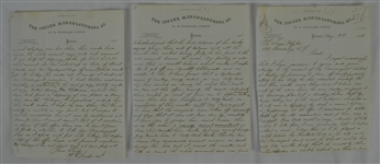 Vintage 1868 Letter Written by Singer Employee Complaining of Boss Missing Work Because of Baseball & Drinking
