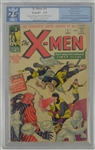 The X-Men 1963 Marvel Comic Book RARE First Issue PGX Graded 2.5