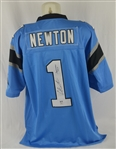Cam Newton Autographed & Inscribed Carolina Panthers Jersey