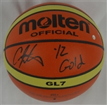 Carmelo Anthony Autographed Molton Official Olympic Basketball