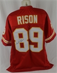 "Andre Rison Autographed Chiefs Jersey Inscribed ""Spiderman"""