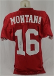 Joe Montana 1993 San Francisco 49ers Professional Model Jersey w/No Use