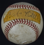 Babe Ruth Single Signed Baseball w/Full JSA LOA