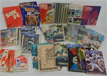 Vintage Collection of 1960s-1990s Baseball Yearbooks Scorecards & Programs
