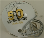 Joe Montana Super Bowl 50 Autographed Limited Edition Helmet