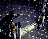 "David Prowse Signed Darth Vader ""Empire Strikes Back"" Cloud City ""I Am Your Father"" Scene 16x20 Photo"