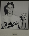 Sandy Koufax 17x17 Original James Fiorentino Watercolor Painting