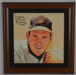 Brooks Robinson 11x11 Original James Fiorentino Watercolor Painting