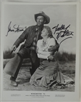 Jimmy Stewart & Shelly Winters Signed Winchester 8x10 Photo