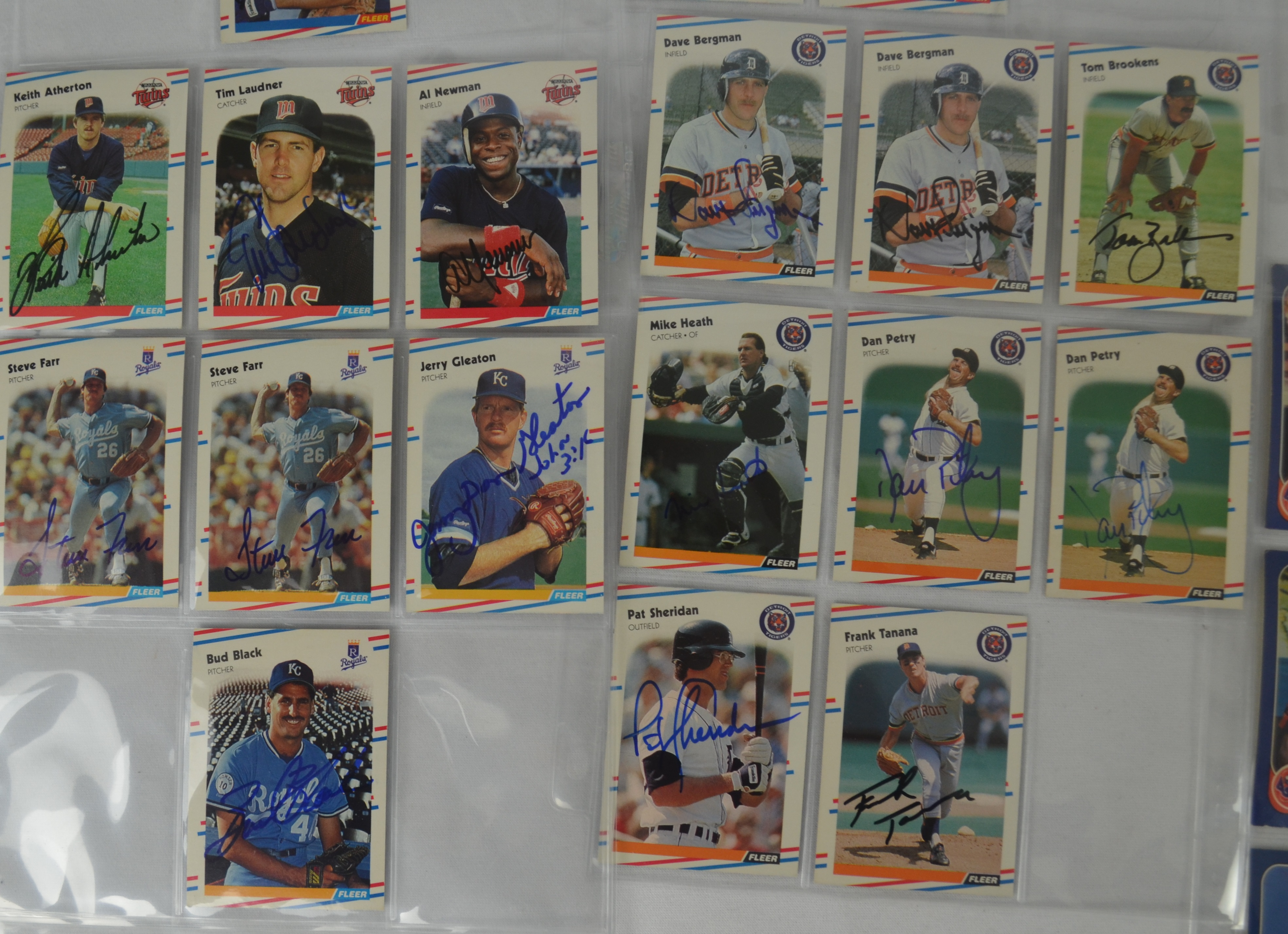 Lot Detail Autographed Baseball Card Collection