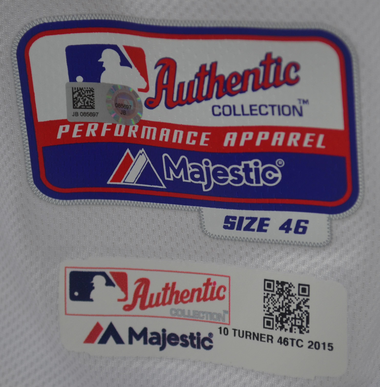finest selection 4b088 e083f Lot Detail - Justin Turner 2015 Los Angeles Dodgers Game ...