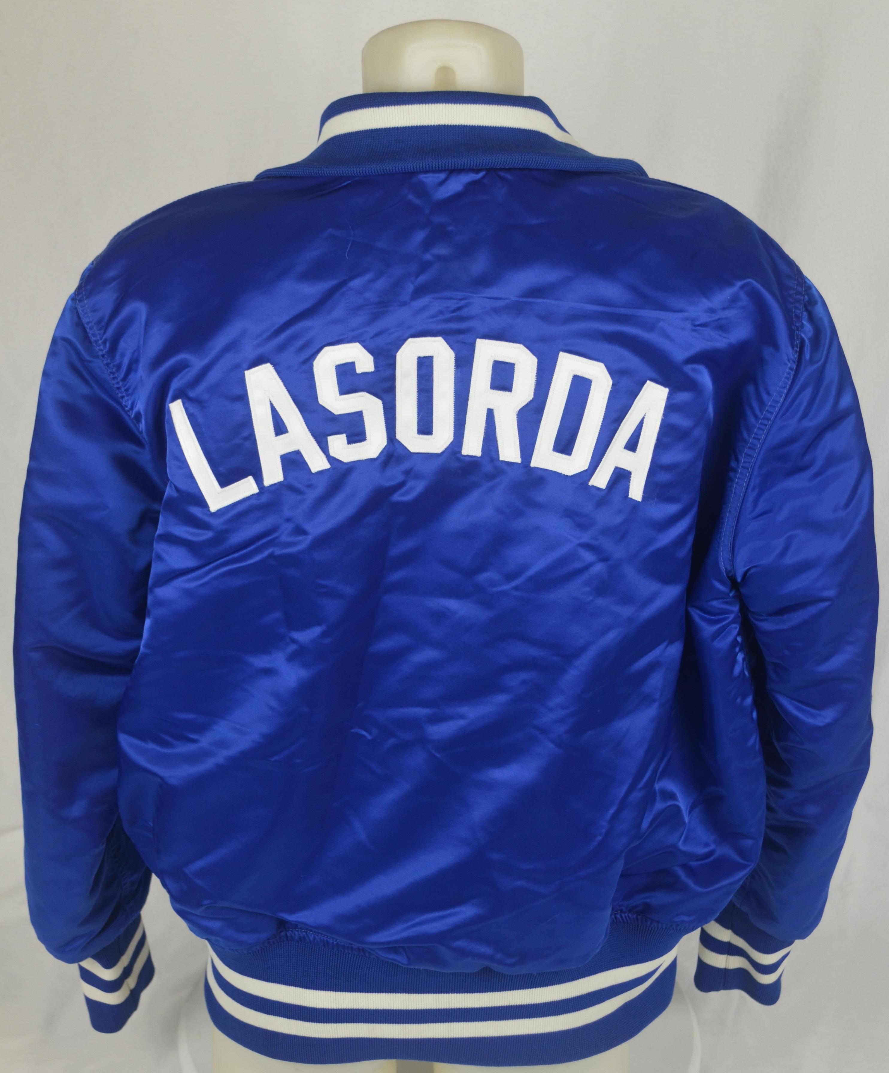 Tommy Lasorda Gets Dodger Jersey-Lined Blazer