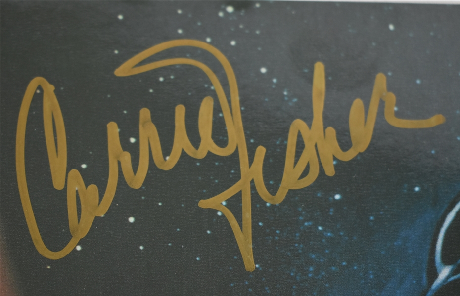 Star Wars Autographed Movie Poster w/Carrie Fisher & Mark Hamill
