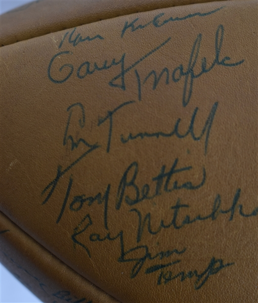 Green Bay Packers Vintage 1960 Team Signed Football w/48 Signatures Including Vince Lombardi