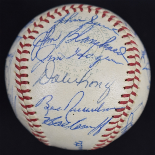 New York Yankees 1964 American League Championship Team Signed Baseball