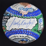 Sandy Koufax One-Of-A-Kind Charles Fazzino Baseball