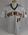 Robin Yount 1988 Milwaukee Brewers Game Used Jersey w/Dave Miedema LOA