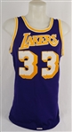Kareem Abdul-Jabbar 1980-85 Los Angeles Lakers Game Used Jersey w/MEARS A10 & Dave Miedema LOAs