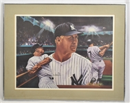 "Mickey Mantle Framed ""Mickey at Night"" Lithograph by Robert Stephen Simon"