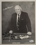 Willie Mosconi Autographed 8x10 Photo JSA LOA