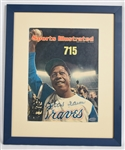 Hank Aaron Autographed Framed 715th Home Run Sports Illustrated