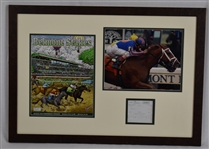 Belmont Stakes 2007 Framed Display w/Fazzino Cover